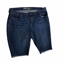 Old Navy Sweetheart Cutoff Shorts Womens Size 16 Stretch Blue Denim N2