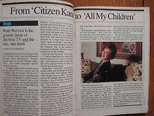 April-1987 TV Guide(RUTH WARRICK/ADDERLY/WINSTON REKERT/ALAN ARKIN/CANADIAN Edit