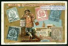 Stamps And Children Of Tunisia NICE c1898 Trade Ad  Card