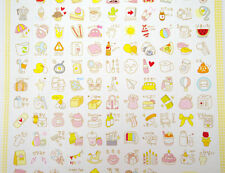 2 pages Korean stickers! Cute planner stickers, kawaii stickers, travel, beauty