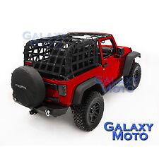 Off Road 2 Door Black Cargo Restraint Net System 4x4 for 07-17 Jeep JK Wrangler