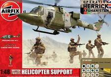 Airfix WESTLAND LYNX ah-7 Set 8 figures troops Afghanistan - 1:48 British Forces