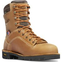 "Danner Men's 17315 Quarry USA 8"" Brown Gore-Tex WP Leather EH Safety Work Boots"