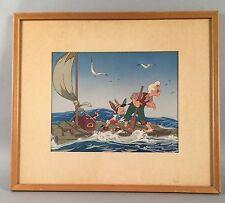 Vintage Disney Pinocchio Art Print - Adventure... 1940 by Courvoisier Galleries