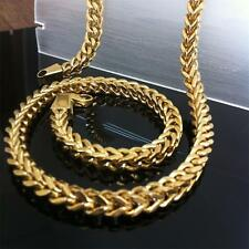"""23.6"""" Fashion Square Men's Stainless Steel Link Chain Necklace 18K Gold Plating"""