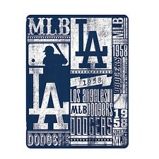"North West New Baseball Los Angeles LA Dodgers Fleece Throw Blanket 50"" x 60"""