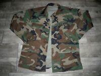 Vintage US Army Woodland Camo Jacket Shirt Military Clothes Uniform Medium Reg