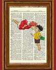 Ponyo and Sosuke Dictionary Art Print Poster Picture Anime Ghibli Movie