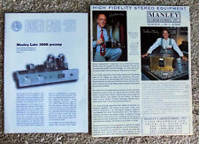 2 Original Manley Laboratories 300B Preamp & Monoblock Brochures Free Shipping