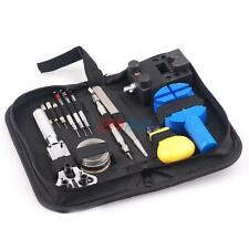 Watchmaker Watch Repair Tool Kit Back Case Opener Remover Spring Pin Bar
