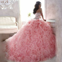 A-Line Quinceanera Birthday Dance Formal Prom Party Pageant Wedding Ball Gown