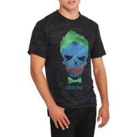Joker DC Comics Suicide Squad Batman Jared Leto Logo Charcoal Mens Shirt