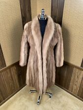 BEAUTIFUL WOMAN'S VINTAGE STONE MARTEN SABLE FUR COAT JACKET X-SMALL XS 0 - 2