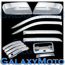 14-15 Silverado 1500 Crew Chrome Mirror+4 Door Handle+Tailgate Cam+Window Visor