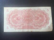 5 PIASTRES LIBIA libia banca nota 24/10/51 1951 RE IDRIS I L AFRICANO