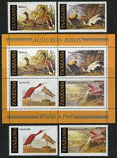 Tanzania 306-309,309a S/S, MNH. John Audubon's Birds. Mallard, Eider, Ibis,1986