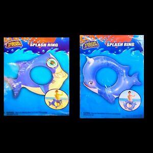2 Pcs Inflatable Swim Pool Floats Penguin Swim Ring Tube Party Toys Set for Kids
