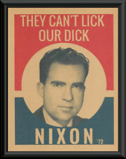 Nixon Can't Lick Our Dick Campaign Poster Reprint On 50 Year Old Paper *P254