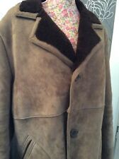 Brown Gents Sheepskin Coat Gc Size 40-42