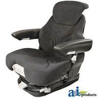 MSG95741GRC Grammer Seat Assembly, Charcoal Matrix Cloth, Black Vinyl Armrests