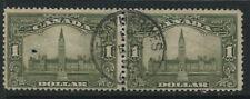 Canada 1929  $1 Parliament horizontal pair CDS used