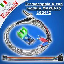 Termocoppia K + modulo MAX6675 - sensore temperatura K Type Thermocouple ARDUINO