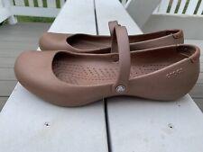 Crocs Alice Size 9 US Women's Mary Jane Ballet Flats Shoes Bronze Brown