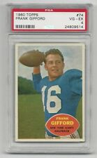 Frank Gifford 1960 Topps Card # 74, PSA - VG / EX - 4. New York Giants