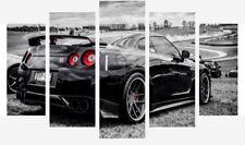 Nissan Gtr - Black And White Sports Super Car 5 Split Panel Canvas Pictures