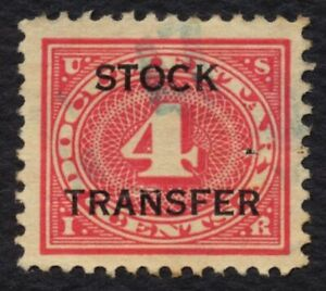 #RD3 4c Stock Transfer, Used [14] **ANY 5=FREE SHIPPING**
