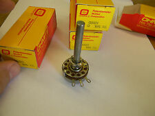 New* Ohmite Potentiometer Cu1521 1.5K ohm 2W Long shaft B4