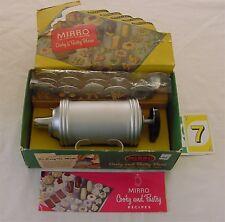 Vintage Mirro Cookie Press 0358 Box 12 Plates 3 Tips Recipe Spritz #97 wrapped