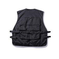 Хип-хоп уличной одежды женский множество карманов грузовой жилет мужская куртка без рукавов