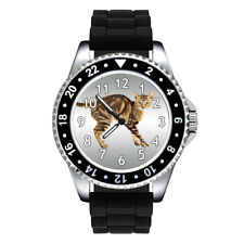 Sokoke Forest Cat Breed Unisex Mens Womens Jelly Silicone Band Wrist Watch Se302