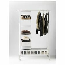 IKEA RIGGA Clothes rack, Single Pole Telescopic Clothes Rack Clothes Dryer-WHITE