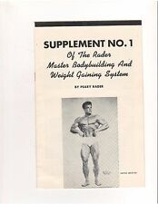 Supplement #1 Peary Rader Master Bodybuilding+Weight Gaining System/Steve Reeves