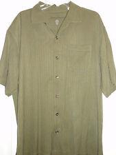 TOMMY BAHAMA Button Down Silk Shirt Mens XL Green