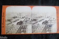 STB236 Paris Panorama vue générale Photo STEREO albumen original