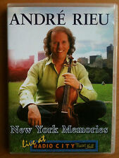 ANDRE RIEU ~ NEW YORK MEMORIES ~ LIVE AT RADIO CITY MUSIC HALL ~ AS NEW/MINT DVD