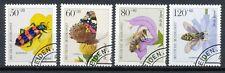 Bundespost 1202 - 1205 gestempeld motief insecten