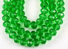 72pcs Chinese Crystal Green Faceted Rondelle Loose Beads Jewelry Making Spacer