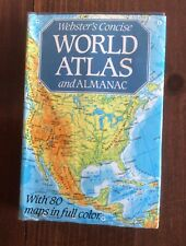 Websters World Atlas Almanac Chart Collectible Handy Maps Book Vintage Reference