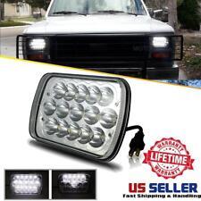 Chrome 7x6 5X7 LED Headlight HI-LO Projector For Ford Aerostar Bronco II Mustang