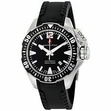New Hamilton Khaki Navy Frogman Automatic Black Dial Men's Watch H77605335