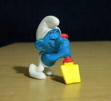 Smurfs Shovel Digger Lazy Smurf Sleeping Figure Vintage Toy Lot Figurine 20043