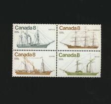 Coastal Sailing Ships Canada # 670 - 673 Mint NH Se-Tenant Block of four