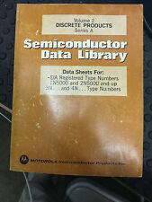 Motorola Data Book Semiconductor Data Library Volume 2 Second Edition 1974