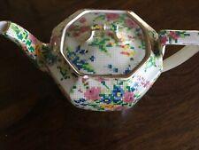 ROYAL WINTON 'Queen Anne' Breakfast Bedside Teapot - Tapestry Pattern