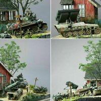1/35 Skala DIY Militärgebäude WWII deutscher Soldat Shelter House Holz Cabin Neu