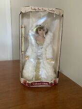 Genuine Fine Bisque Porcelain doll Red hair, brown eyes Limited Edition White